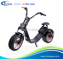 Powerful High Speed Lithium Battery Citycoco 1200W EEC electric scooter