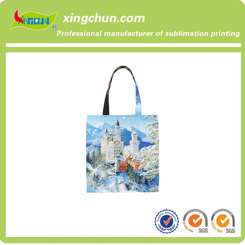 Fashion Design printed tote bag Eco-Friendly and Recyclable Canvas Shopping bag