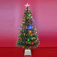 Fiber Optic Lights Tree With Multi-colour LED and Star Top for Christmas Holiday Party