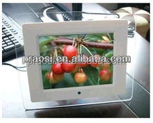 high resolution motion sensor digital photo frame with support copy / delete or rotate photos