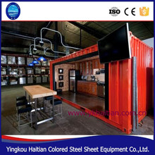 Fashion shipping container restaurant/cafe shop for sale