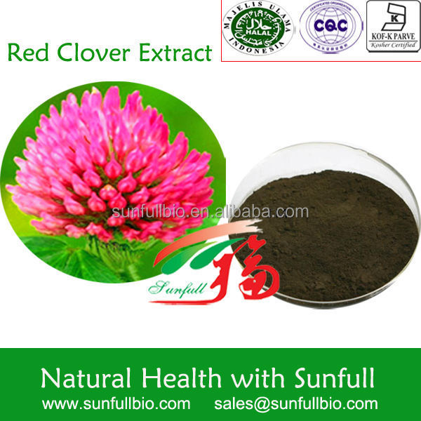 Best quality Red Clover Extract(Isoflavones),Trifolium Pratente L Phytoestroge