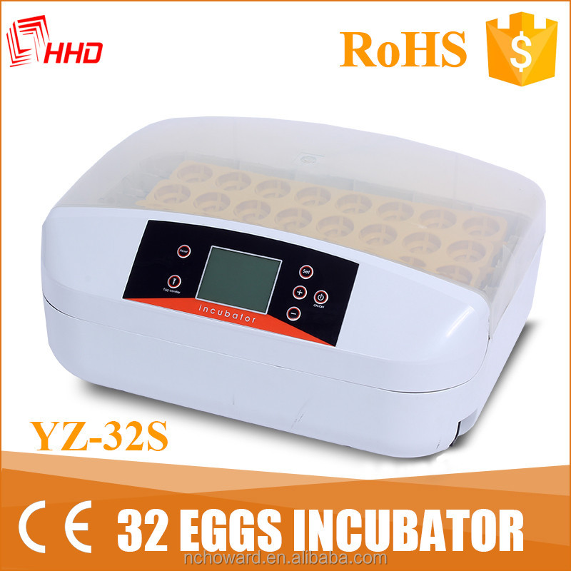 New arrival! HHD new design guinea fowl eggs small egg incubator for sale price microbiology incubator YZ-32S with led light