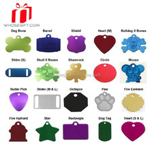 Anodized Pet Id Tags - Dog Bone,Round,Heart,Paw,And Anime Tags