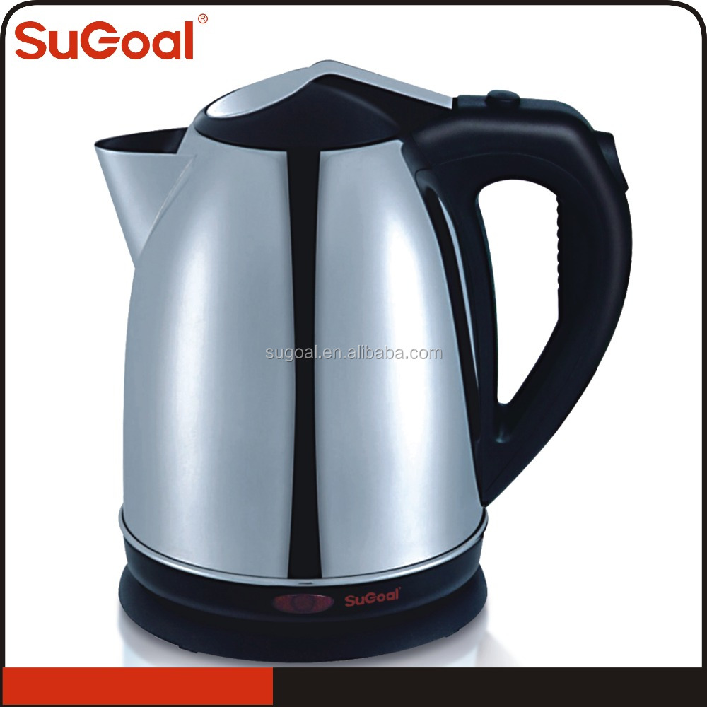 Good for promotion 2.0l large size stainless steel heating element tea kettle for hotel