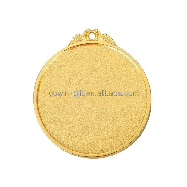 Custom cheap zinc alloy blank empty Gold or silver color medal