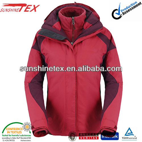 Ladies fr winter insulated safety reflective parka