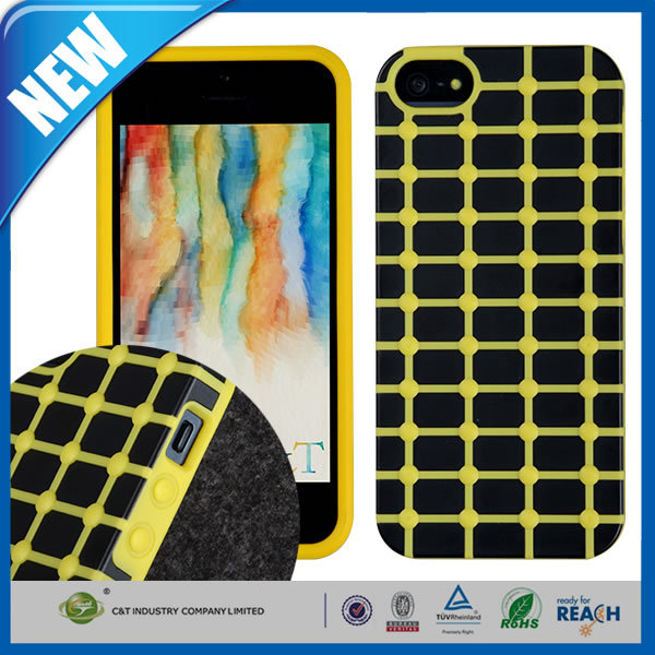 C&T Innovative soft gel cover tpu mobile phone case for iphone 4 4s 5 5s 6