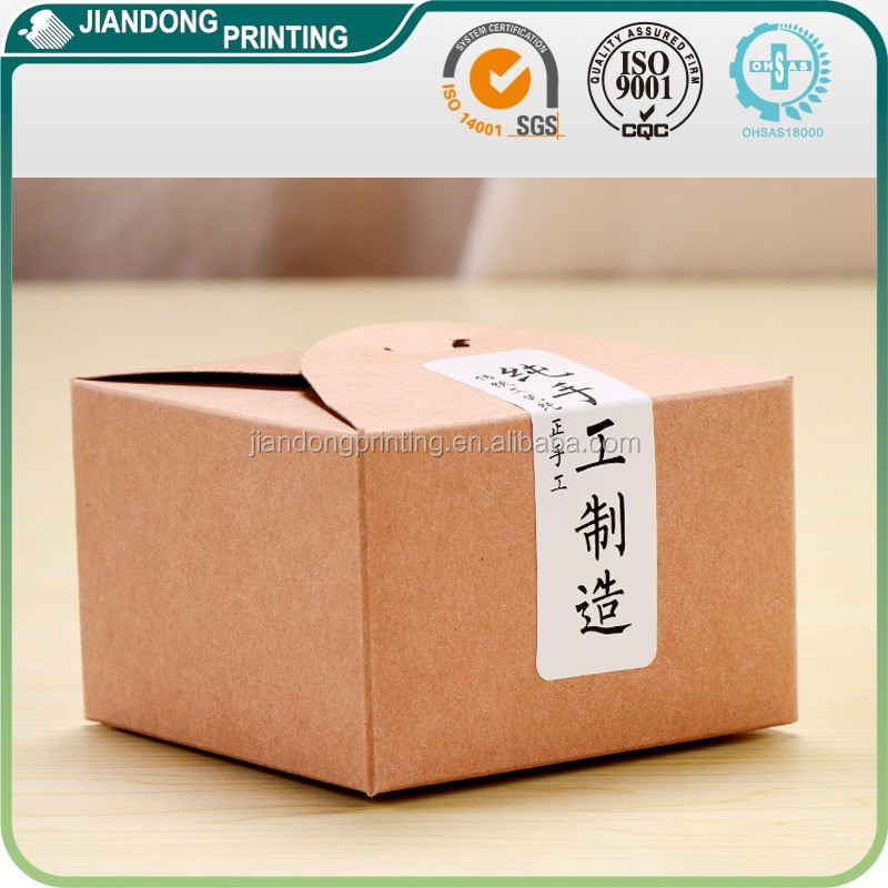 Traditional handmade products kraft paper box package