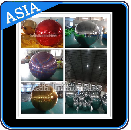 Inflatable Mirror Balloon; PVC Inflatable Mirror Ball For T-show decoration