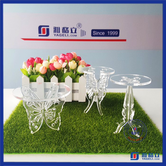 High quality custom Made acrylic cake stand or ice cream cart from gold supplier