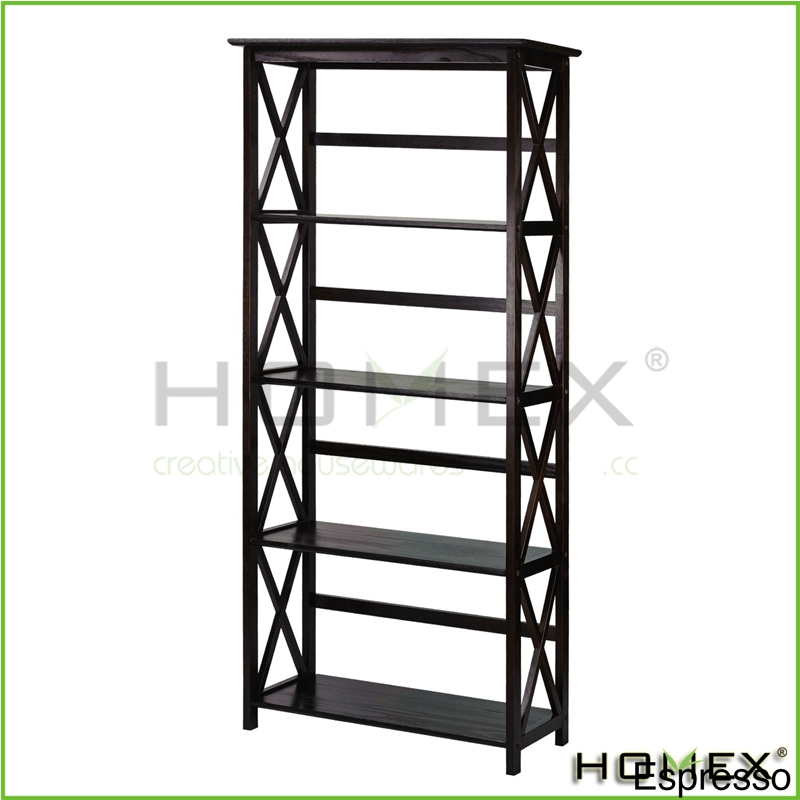 5 Shelf Bookcase Adjustable Black Home Office Furniture Shelving bookshelf NEW/Homex_BSCI