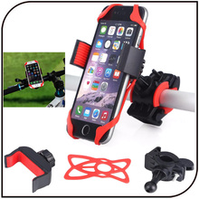 Bike Bicycle Motorcycle Handlebar Mount Phone Holder Bike CellPhone Holder With Silicone Support For iphone 7 plus