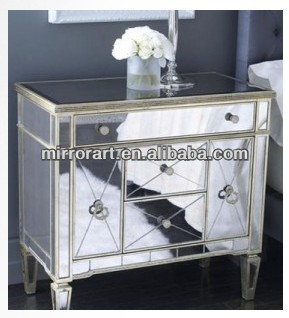 MR-401324 bedside table mirrored furniture wholesale