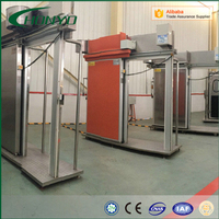 Efficient refrigeration manual sliding gate