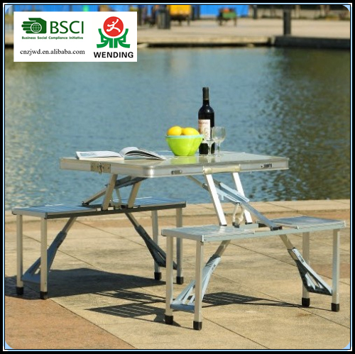 BSCI Wending camping aluminum <strong>folding</strong> table
