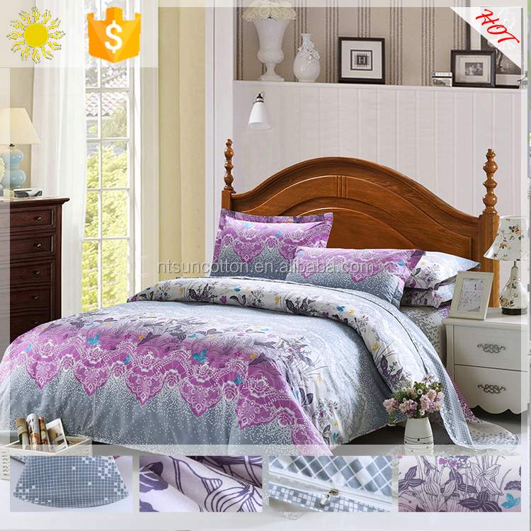 China products home designs bed linen 3d bedding sets bed sheet