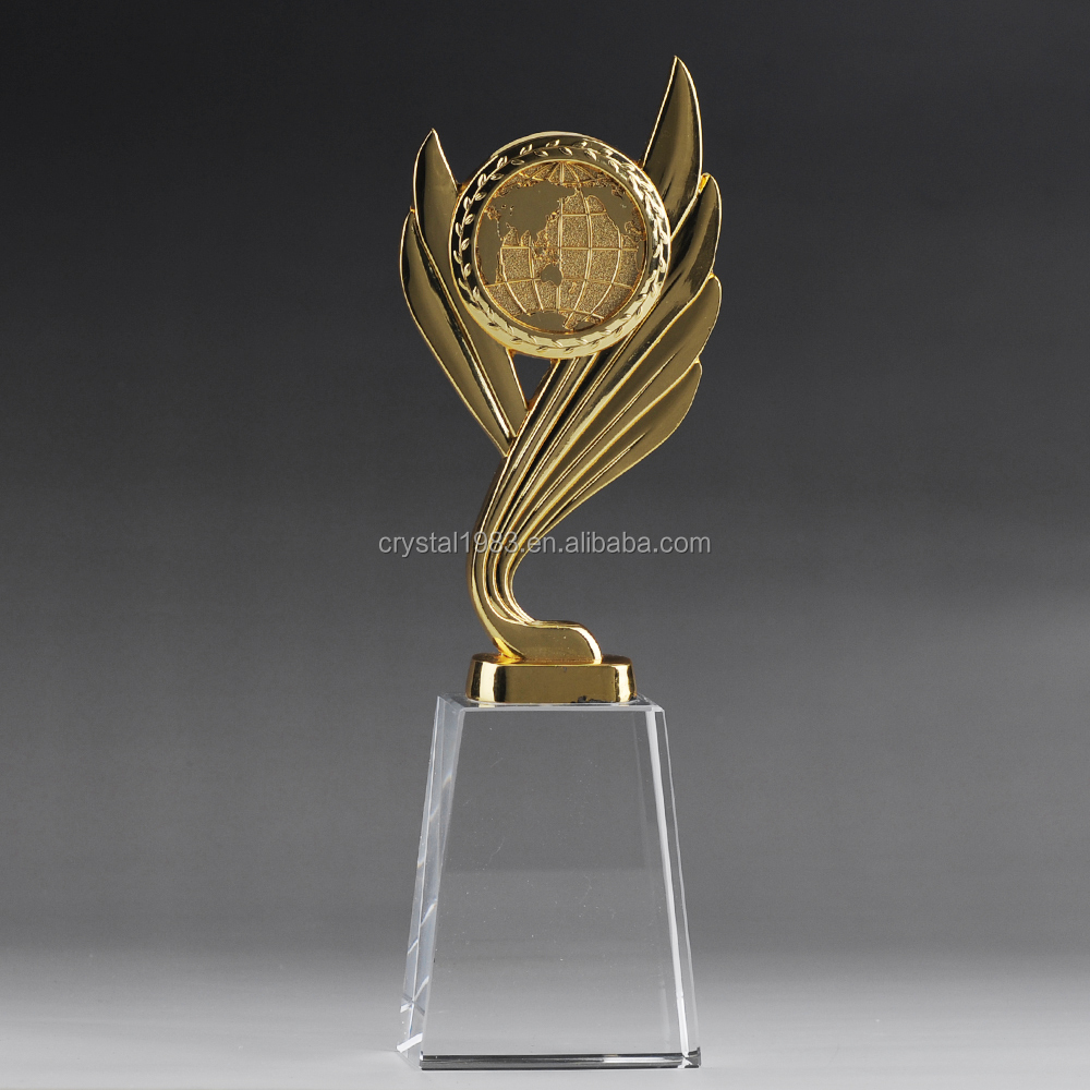 blank glass award Trofeo figurines wholesale with custom sizes engrave logo