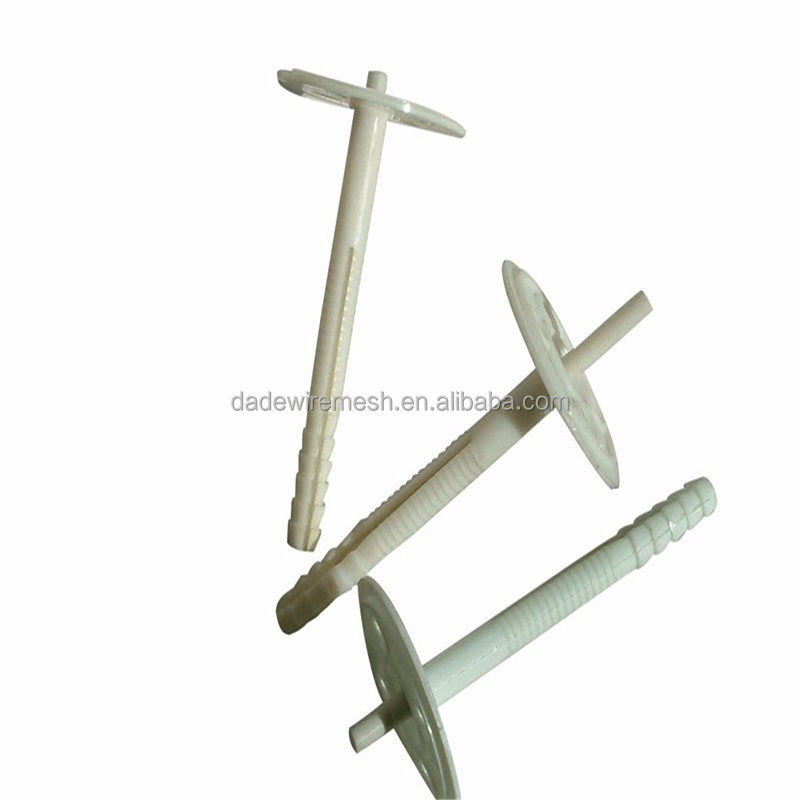 2016concrete nails with washer plastic fixing nails