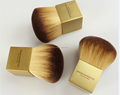 Big metal square handle synthetic hair cosmetic kabuki brush