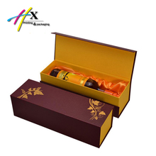 customized high end cardboard wine box printing your own logo advertising protecting foam silk inset