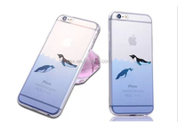 Cute Cartoon Dolphin Penguin Whale Seal Polar Bear Sea Lion Animal Design Matte Slim Fit Clear Soft TPU Cover Case for Iphone 6
