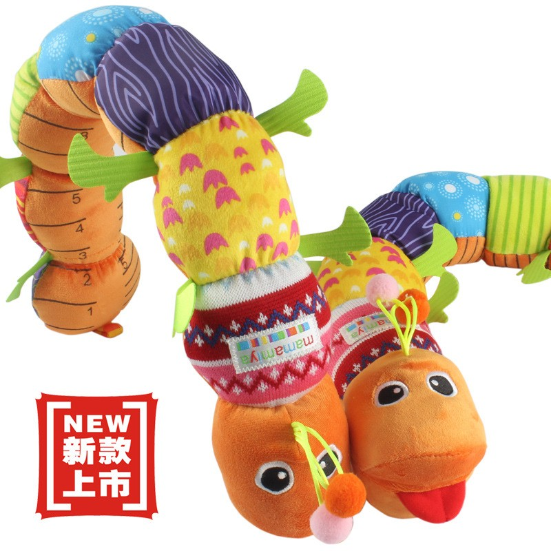 2016 Popular cute multi function music caterpillar shaped plush toy for baby