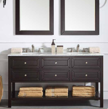 Simple Modern PVC waterproof slim bathroom vanity with side cabinet