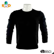 Guangzhou spring O-Neck Blank slim fit black long sleeve t shirt men