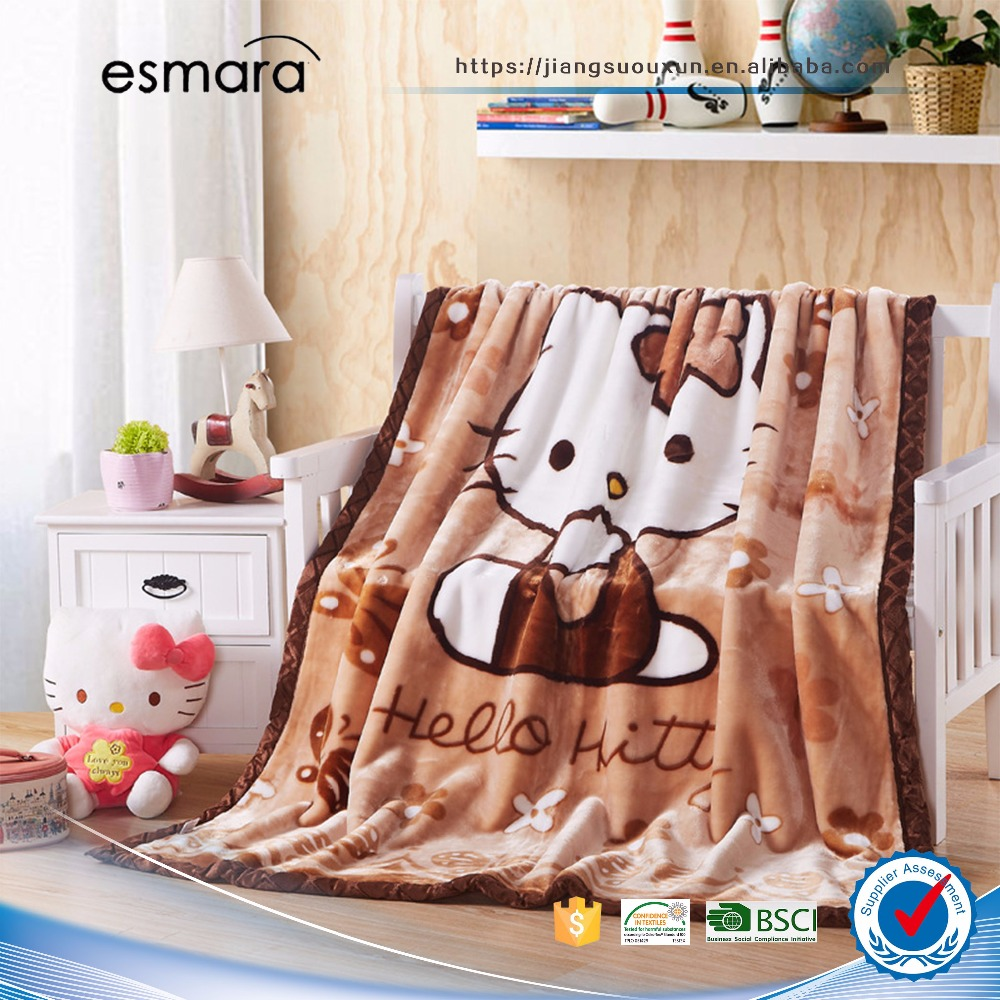 polar fleece knit polyester travel blanket