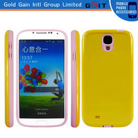 Combo Compatible TPU +PC Rubber Clear Protective Skin Case for Galaxy S4, i9500, 9500 9505