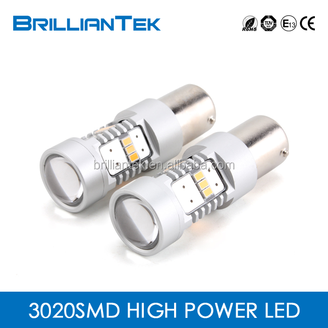 BT-AUTO New Arrival 3020 Series 2 Years Warranty 12v 1156 1157 Yellow Halogen Turning Light Car LED SMD Interior Light Bulb