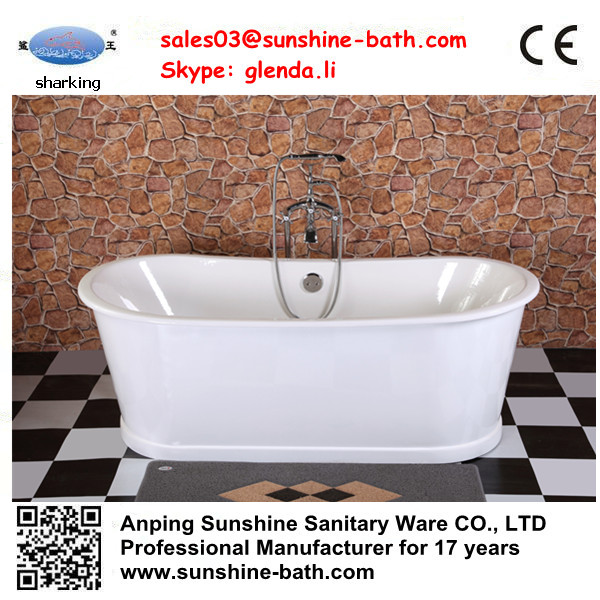 Chinese deep soaking tubs cheap cast iron bathtub for sale for Discount bathtubs for sale