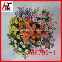 cheap silk chrysanthemum plastic flower bushes