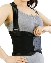 Light Adjustable Back Brace Support Belt with Suspenders for Lower Back Pain