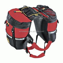 saddle harness pack carrier camping dog backpack for hike puppy