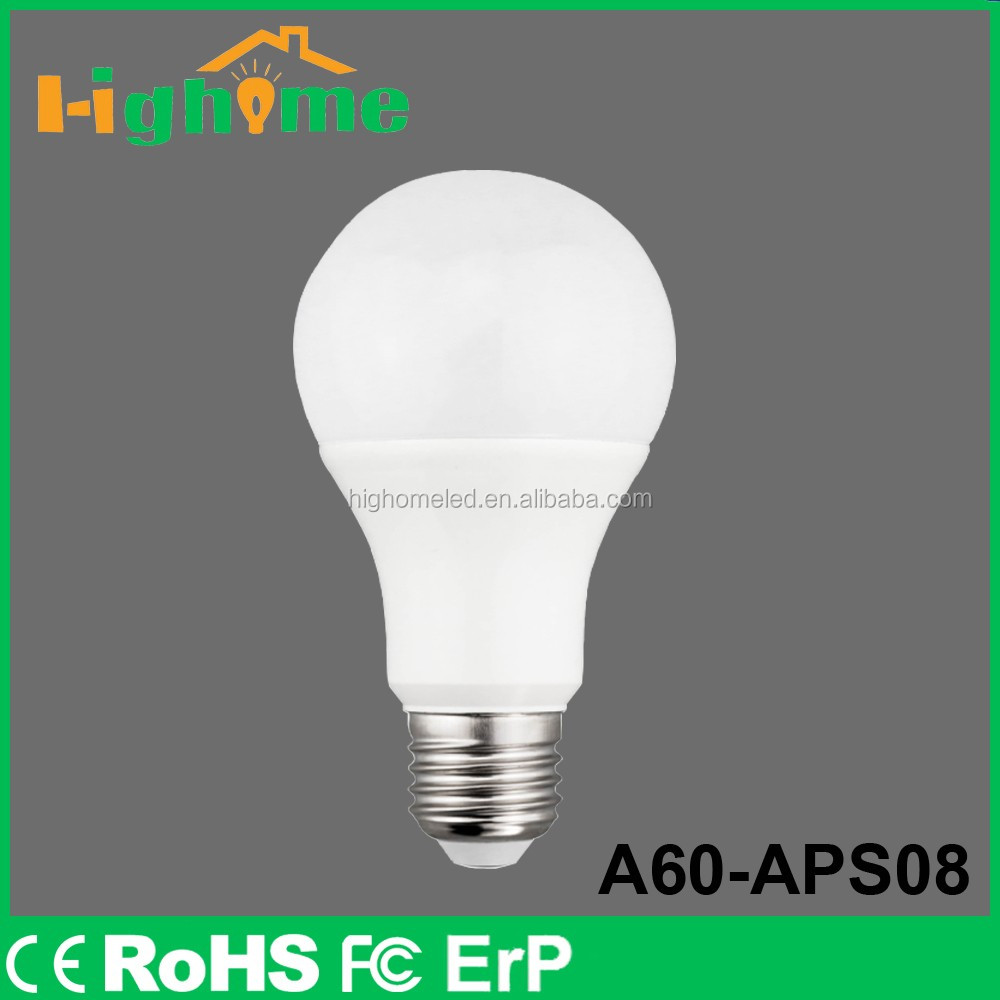 2016 hot selling new style china manufacturer B22 LED A60 Bulb 12W