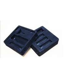 Custom Black PS Flocking Blister Tray for Cosmetic