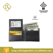 RFID Blocking Leather Wallet Bifold Security Credit Card Protector Wallet for Men