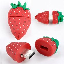 Good after-sales service strawberry style bulk usb falsh drive 32gb
