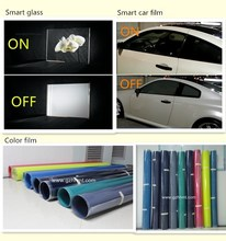 Window switchable transparent smart film/pdlc film for car