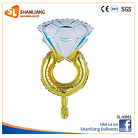 New Lovely Diamond Ring Foil Balloon For Wedding Engagement Party Decoration Diamong Ring Helium Balloon