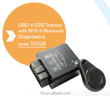 Plug & play obd ii gps gprs gsm car tracker for SMS tracking on cellphone with a googlemap link