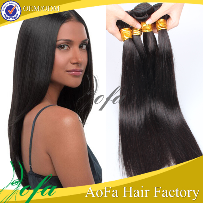 Alibaba Express Clip In Real Remy Human Hair Extensions Full Head Long Straight Black Brazilian Hair