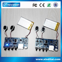 High quality mp3 mini TF card design multifunction module with two speaker