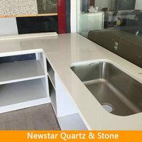 Pure white man made stone countertops, quartz kitchen counter table top