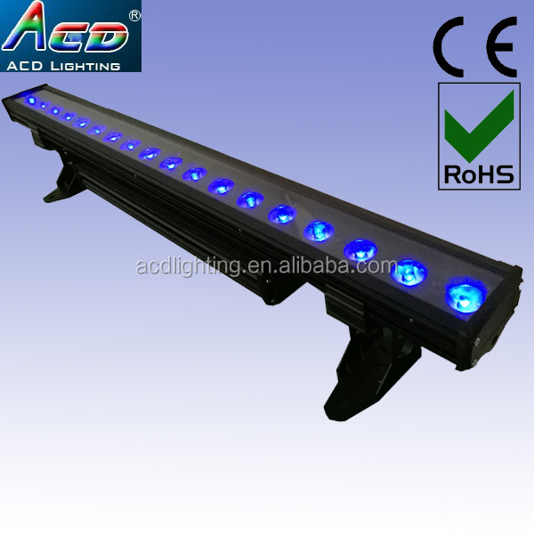 NEW pixel control each led 18*10w 4in1 RGBW led wall washer