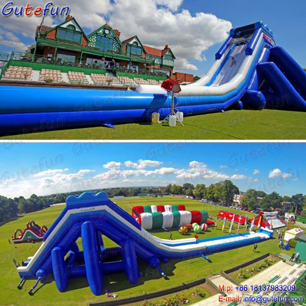 Commercial inflatable water pool slide for kids and adult - Commercial swimming pool water slides ...