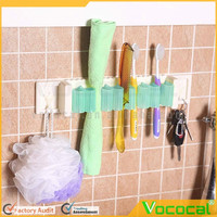 Multi-function Home Bathroom Garden Tool Kitchen Utensil Storag Hook Clip Wall Rack with Double Faced Adhesive Tape
