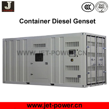 Container type silent mobile 1 mw diesel generator power generator 1250kva price